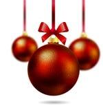 Boule rouge d'isolement de Noël au foyer illustration stock