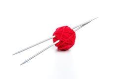 Boule rouge de fil Photographie stock libre de droits