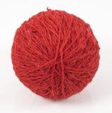 Boule rouge de laine Image libre de droits
