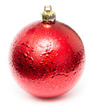 Boule rouge de Noël Photographie stock