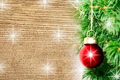 Boule rouge simple de Noël Image stock