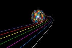 Boule roulante illustration libre de droits