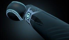 Boule saisissante de batte futuriste illustration de vecteur
