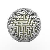 boule sans fin de planète de labyrinthe du labyrinthe 3d Photos stock
