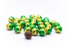 Boule verte de chocolat Photo libre de droits
