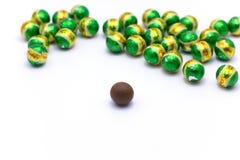 Boule verte de chocolat Image libre de droits