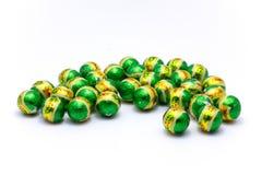 Boule verte de chocolat Images stock