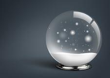 Boule vide de neige, sur le fond foncé avec l'espace de copie, conce de Noël Image stock