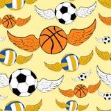 Boules à ailes sans couture Image stock
