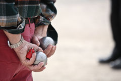 boules γαλλικό riviera petanque Στοκ φωτογραφία με δικαίωμα ελεύθερης χρήσης