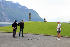 Boules в Монтрё, Швейцарии Стоковые Фото