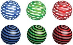 Boules abstraites de couleur de vecteur Photo libre de droits