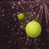 Boules abstraites de Noël avec des étoiles Images stock