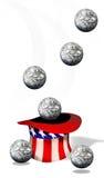 Boules américaines d'argent Photo stock