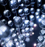 Boules bleues abstraites de verre cristal, fond luxe Photo libre de droits