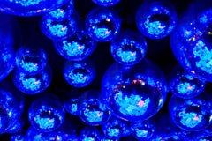 Boules bleues de disco de boîte de nuit Image libre de droits