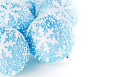 Boules bleues de Noël Photos stock