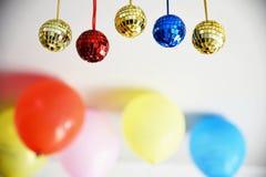 Boules brillantes de disco pour Noël Image libre de droits