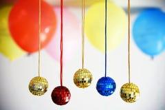 Boules brillantes de disco pour Noël Photographie stock libre de droits