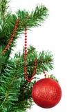 Boules colorées décorées d'arbre de Noël Image libre de droits