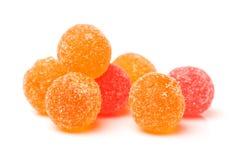Boules colorées de gelée de fruit Images stock