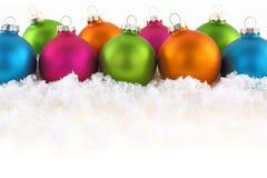 Boules colorées de Noël Photographie stock