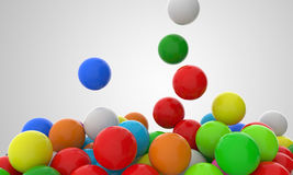 Boules colorées en baisse 2 Photo libre de droits