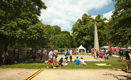 2014 boules competition in Bath Royalty Free Stock Photo