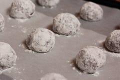 Boules crues de biscuit Image libre de droits