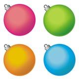 Boules décoratives de Noël Photographie stock