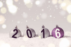 Boules décoratives de Noël Image stock
