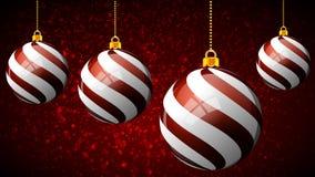 Boules décoratives de Noël de nouvelle année illustration de vecteur
