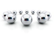 Boules d'acier Image stock