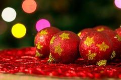 Boules d'arbre de Noël Photo libre de droits