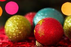 Boules d'arbre de Noël Photos stock