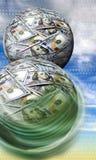 Boules d'argent Images stock