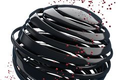 boules 3D décoratives rayées Images libres de droits