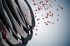 boules 3D décoratives rayées Photographie stock libre de droits