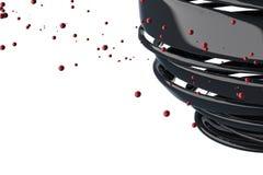 boules 3D décoratives rayées Photos libres de droits