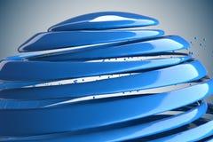 boules 3D décoratives rayées Images stock