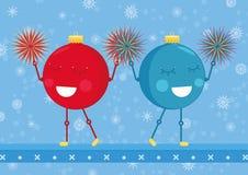 Boules d'ornement de Noël de majorettes illustration stock