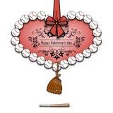Boules de base-ball présentées sous forme de coeur Photographie stock