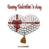 Boules de base-ball présentées sous forme de coeur Image libre de droits