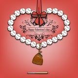 Boules de base-ball présentées sous forme de coeur Photographie stock libre de droits
