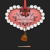 Boules de base-ball présentées sous forme de coeur Images libres de droits