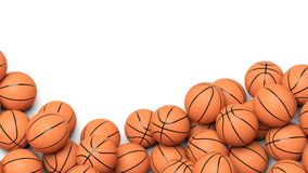 Boules de basket-ball Photo stock