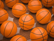 Boules de basket-ball Photographie stock