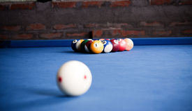 Boules de billard/photo de style de vintage des boules de billard dedans Image libre de droits