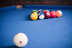 Boules de billard/photo de style de vintage des boules de billard dedans Photo libre de droits