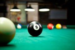 Boules de billard/photo de style de vintage des boules de billard dedans Images stock
